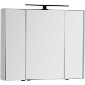 Зеркальный шкаф Aquanet Латина 90 с светильником, белый (179605, 179947)