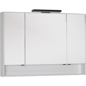 Зеркальный шкаф Aquanet Виго 120 с светильником, белый (183400, 181660) контейнер отработанного тонера впитывающая емкость canon mc 10