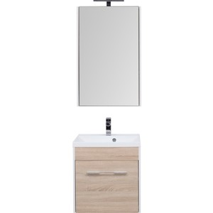 Мебель для ванной Aquanet Августа 58 дуб сонома