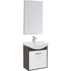 Мебель для ванной Aquanet Грейс 60 дуб кантербери/белый 1 ящик, 2 дверцы тумба под раковину aquanet грейс 60 дуб сонома белый 1 ящик 2 дверцы 198373