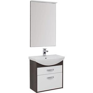 Мебель для ванной Aquanet Грейс 65 дуб кантербери/белый 2 ящика
