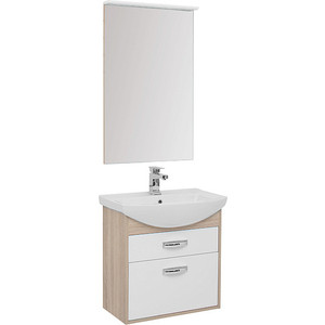 Мебель для ванной Aquanet Грейс 65 дуб сонома/белый 2 ящика мебель для ванной aquanet грейс 60 дуб сонома белый 2 дверцы