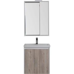 Мебель для ванной Aquanet Клио 60 дуб кантри/белый