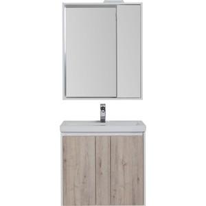 Мебель для ванной Aquanet Клио 70 дуб кантри/белый
