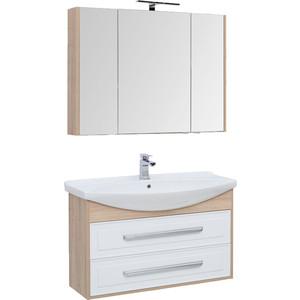 Мебель для ванной Aquanet Остин 105 дуб сонома/белый