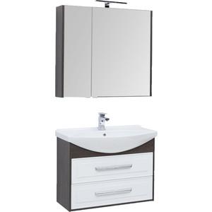 Мебель для ванной Aquanet Остин 85 дуб кантербери/белый