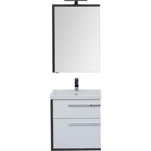 Мебель для ванной Aquanet Фостер 60 эвкалипт мистери/белый цена 2017
