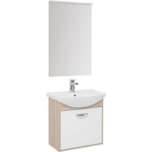 Мебель для ванной Aquanet Грейс 65 дуб сонома/белый 1 ящик тумба с раковиной aquanet грейс 65 дуб сонома белый 1 ящик 198375 182642