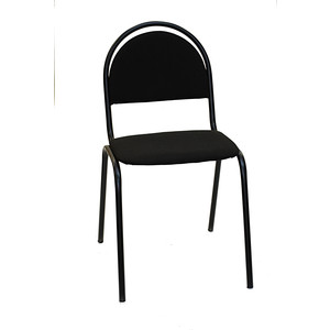 Стул Союз мебель Стандарт СМ 8 каркас черный ткань черная стул союз мебель см 8 каркас черный ткань серая 2 шт