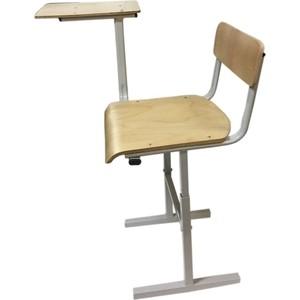 Стул Союз мебель Школьника с деревянным пюпитром, каркас серый стул союз мебель см 8 каркас черный ткань серая 2 шт
