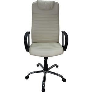 Кресло Союз мебель Страйкер ТГ экокожа бежевая, крестовина хром