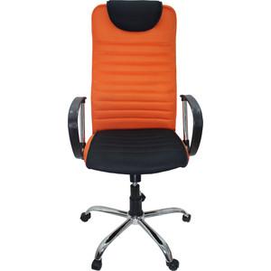 Кресло Союз мебель Страйкер ТГ TW ткань оранжевая,крестовина хром