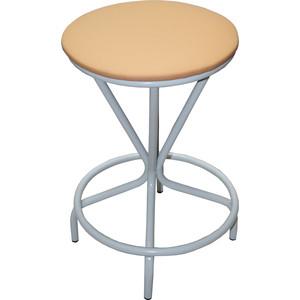 Табурет Союз мебель Тюльпан, каркас серый экокожа бежевая