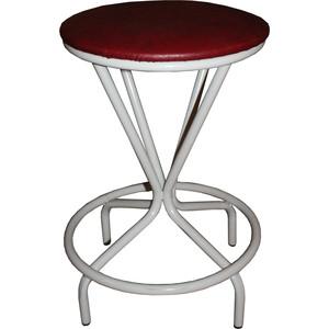 Табурет Союз мебель Тюльпан, каркас серый экокожа бордовая