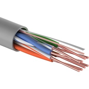 Кабель Proconnect витая пара LIGHT UTP 4PR 24AWG, CCA, CAT5e, PVC серый, (бухта 305 м) (01-0043-2) сетевой кабель proconnect utp cca cat 5 4x2x0 50mm 100m 01 0043 3 100