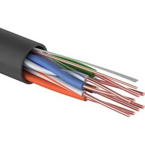 Кабель Proconnect витая пара UTP 4PR 24AWG, CCA, CAT5e, PE, (бухта 305 м), черный OUTDOOR (01-0045-3) сетевой кабель proconnect utp cca cat 5 4x2x0 50mm 100m 01 0043 3 100