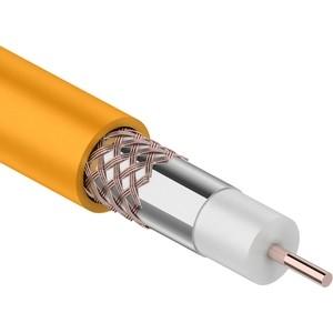 Кабель REXANT коаксиальный RG-6U+Cu нг(А)- HF, Cu/Al/Cu, 64%, 75 Ом, (бухта 100 м), оранжевый (01-2654) стоимость