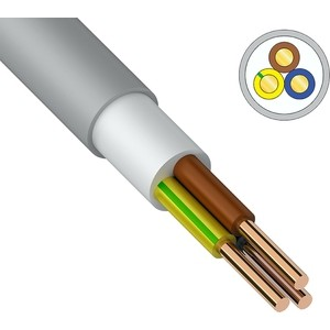 Кабель REXANT силовой медный NUM-J 3x6 мм2, длина 20 метров, ГОСТ 31996-2012, ТУ 3520-015-38229892-2015 (01-8707-20) кабель медный силовой негорючий ввгнг ls 4х16