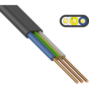 Кабель Конкорд силовой медный ВВГ-Пнг(А)- LS 3x1,5 мм2, (бухта 100 м) ГОСТ Конкорд (01-8294) кабель медный силовой негорючий ввгнг ls 4х16