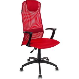 Кресло Бюрократ KB-8N/R/TW-97N красный TW-35N кресло руководителя бюрократ kb 9 на колесиках сетка красный [kb 9 r tw 97n]