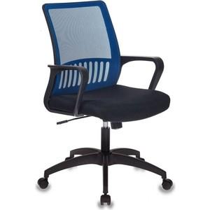 Кресло Бюрократ MC-201-H/bl/TW-11 спинка сетка синий TW-05 сиденье черный
