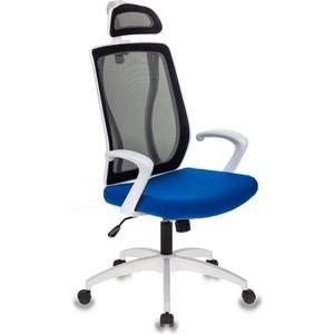 Кресло Бюрократ MC-W411-H/B/26-21 черный TW-01 сиденье синий 26-21