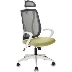 Кресло Бюрократ MC-W411-H/DG/26-32 серый TW-04 сиденье зеленый 26-32