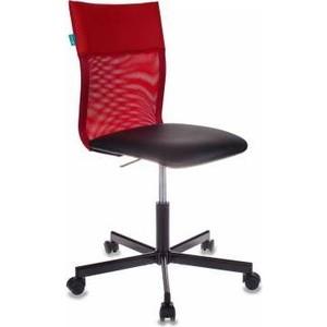 Кресло Бюрократ CH-1399/R+B спинка сетка красный, сиденье черный кресло бюрократ ch 590 sd black искусственная кожа спинка сетка салатовый сиденье черный