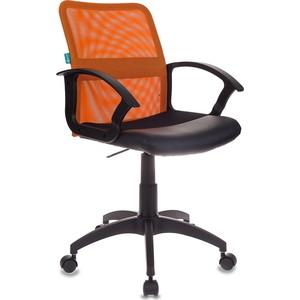 Кресло Бюрократ CH-590/OR/black спинка сетка оранжевый, сиденье черный