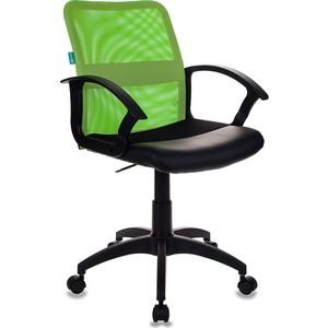 Кресло Бюрократ CH-590/SD/black спинка сетка салатовый, сиденье черный кресло детское бюрократ ch w797 sd cactus gn спинка сетка салатовый сиденье зеленый кактусы cactus gn