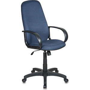 Кресло Бюрократ CH-808AXSN/bl&blue черный/синий 12-191 кресло руководителя бюрократ ch 808axsn на колесиках ткань [ch 808axsn g]
