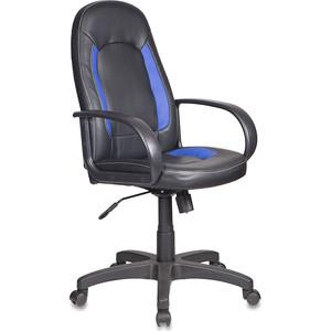 Кресло Бюрократ CH-826/B+bl вставки синий, сиденье черный