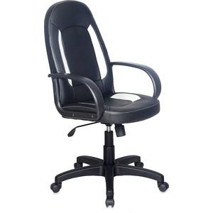 Кресло Бюрократ CH-826/B+WH вставки белый, сиденье черный