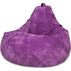цена Кресло-мешок DreamBag Фиолетовый микровельвет XL 125x85 онлайн в 2017 году