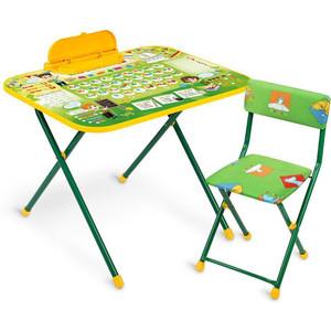 Набор мебели Nika ПЕРВОКЛАШКА стол+мягкий стул 2 положения высоты стола NK-75/2