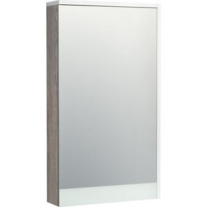 Зеркальный шкаф Акватон Эмма 46 механизм доводчика, белый/дуб наварра (1A221802EAD80)