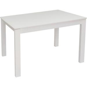Стол раздвижной Leset Делавэр 1Р белый/стекло глянцевое белое