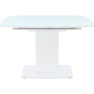 Стол раздвижной Leset Денвер 1Р белый лак/стекло глянцевое белое