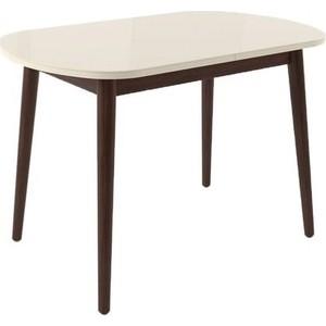 Стол раздвижной Leset Акра 1Р венге/стекло кремовое