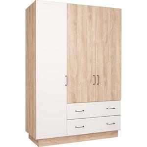 Шкаф 3-х дверный Комфорт - S Ханна М4 дуб баррик/белый