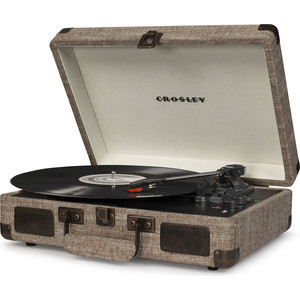 Виниловый проигрыватель CROSLEY CRUISER DELUXE [CR8005D-HA] havana c Bluetooth