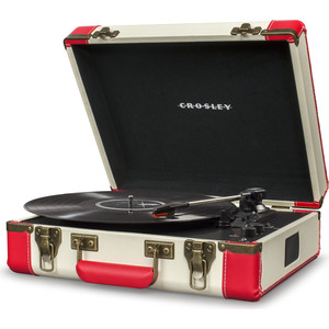 Виниловый проигрыватель CROSLEY EXECUTIVE DELUXE red/white c Bluetooth