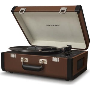 Виниловый проигрыватель CROSLEY PORTFOLIO PORTABLE [CR6252A-BR] brown/black c Bluetooth cky bc227 portable bluetooth v3 0 handsfree speaker w built in rechargeble battery black