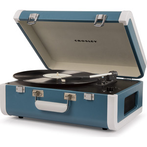 Виниловый проигрыватель CROSLEY PORTFOLIO PORTABLE [CR6252A-TU] turquoise/white c Bluetooth