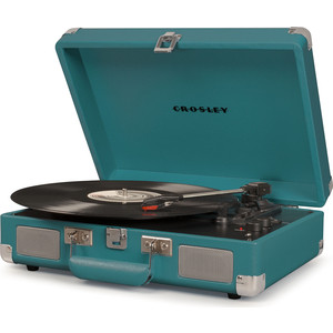 Виниловый проигрыватель CROSLEY CRUISER DELUXE [CR8005D-TL] teal c Bluetooth цена
