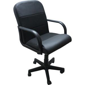 Кресло Союз мебель Черри экокожа черная, ткань черная