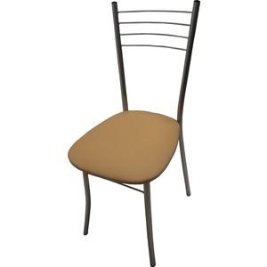 Стул Союз мебель Нефертити каркас аллюминий хром, экокожа бежевая стул союз мебель см 8 каркас черный ткань серая 2 шт