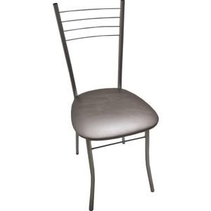 Стул Союз мебель Нефертити каркас аллюминий хром, экокожа серый перламутр стул союз мебель см 8 каркас черный ткань серая 2 шт