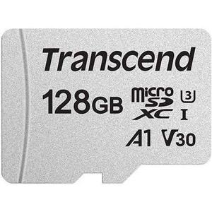 Карта памяти Transcend 128GB microSDXC Class 10 UHS-I U3, V30, A1, (без адаптера), TLC (TS128GUSD300S)