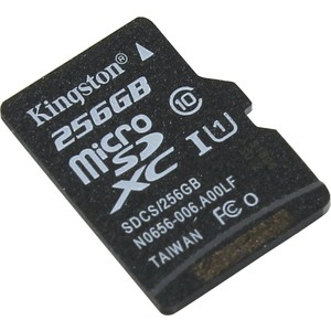 Карта памяти Kingston 256GB microSDXC Class 10 UHS-I U1 Canvas Select 80MB/s (SDCS/256GBSP)